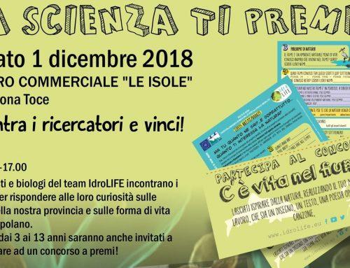 """Nuovo evento """"La scienza ti premia!"""""""